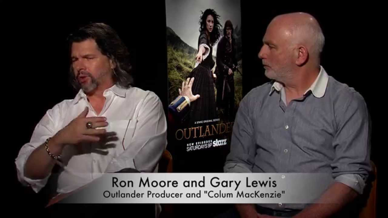 Outlander Producer Ron Moore and Gary Lewis (Colum MacKenzie ...
