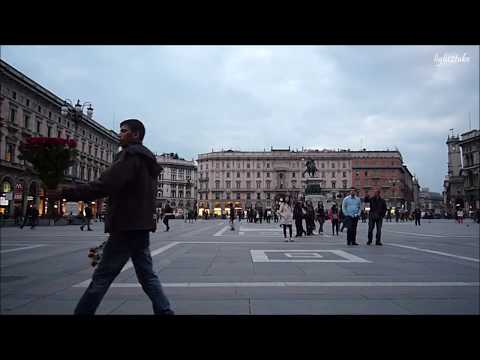Milan Italy, Piazza del Duomo and La Scala