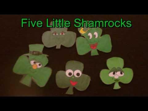 st patricks day preschool five little shamrocks littlestorybug youtube - Dltk Com