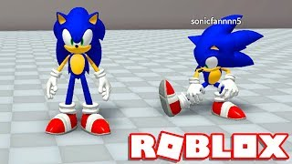 Roblox → HOW TO TURN REALISTIC SONIC into ROBLOX (AWESOME)!! -Roblox Sonic World Adventure 🎮