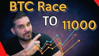 BTC Race to 11000 OR Back To 10000  - Will We WIN?? Comment and WIN