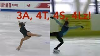 23 Ladies Of Figure Skating Performing 3A And 4s Triple Axels And Quads