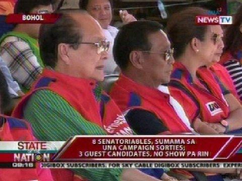 SONA: UNA, nangampanya sa Bohol; no-show ulit ang 3 guest candidates