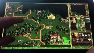 Heroes of Might & Magic III running on Windows 8 tablet (touchscreen)