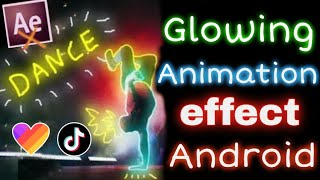 How to make Glowing animation effect in hindi | HOW TO EDIT SCRIBBLE GLOWING EFFECT VIDEO on ANDROID