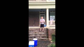 Jay Barnes of Sweet Briar College accepts the Ice Bucket Challenge to raise awareness for ALS