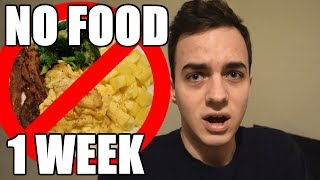 NO FOOD FOR A WEEK! 7 DAY WATER FASTING