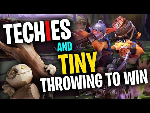 Techies & Tiny Throwing To Win! - DotA 2 Funny Moments