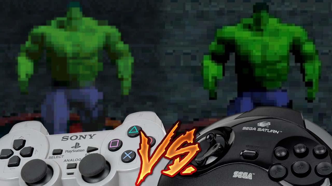 Playstation Vs Sega Saturn The Incredible Hulk The