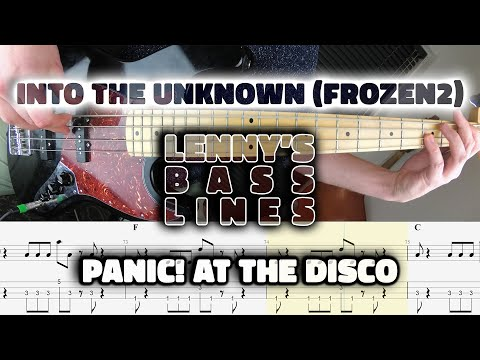 Panic! At The Disco - Into the Unknown (Frozen 2) - Bass Line - Score - Tabs - Cover