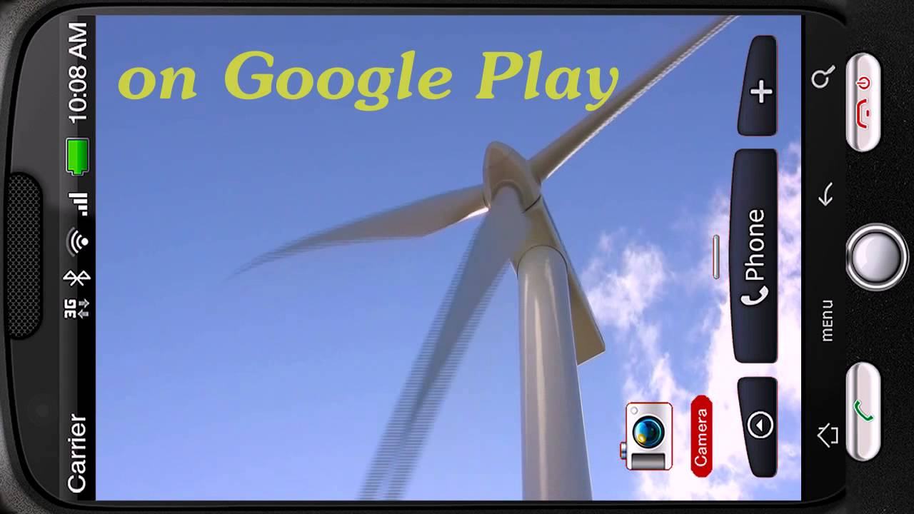 Amazing Sky Windmill Deluxe HD Edition 3D Live Wallpaper For Android