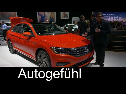 All new Volkswagen Jetta 2019 REVIEW VW NAIAS 2018 Autogefhl