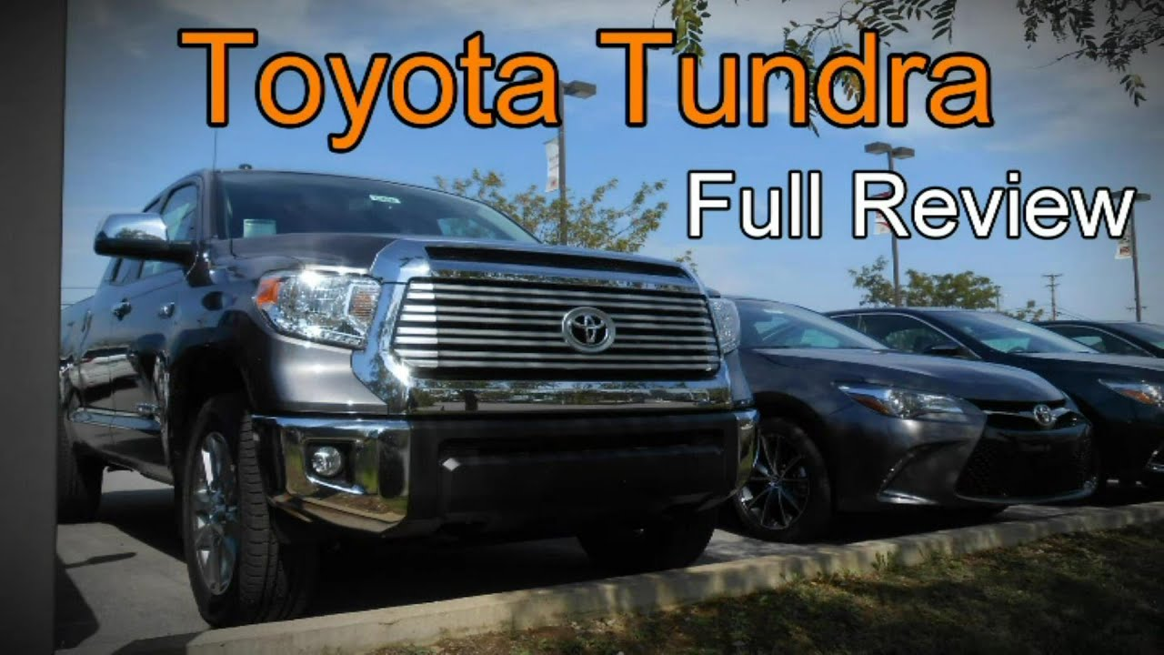 Toyota Tundra 1794 Edition >> 2016 Toyota Tundra Limited, 1794, Platinum & SR5: Full Review - YouTube