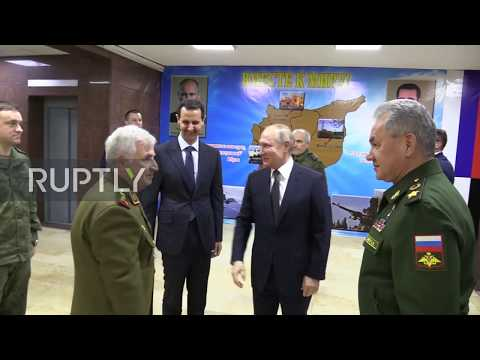Syria: Putin holds talks with Assad at new Russian command centre