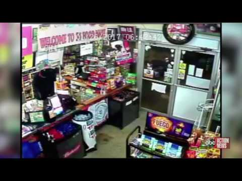VIDEO | Armed robbery suspect shot by customer