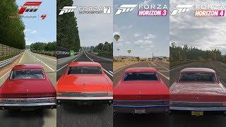 Forza 4 vs Forza 7 vs Forza Horizon 3 vs Forza Horizon 4 - 1965 Pontiac GTO Sound Comparison