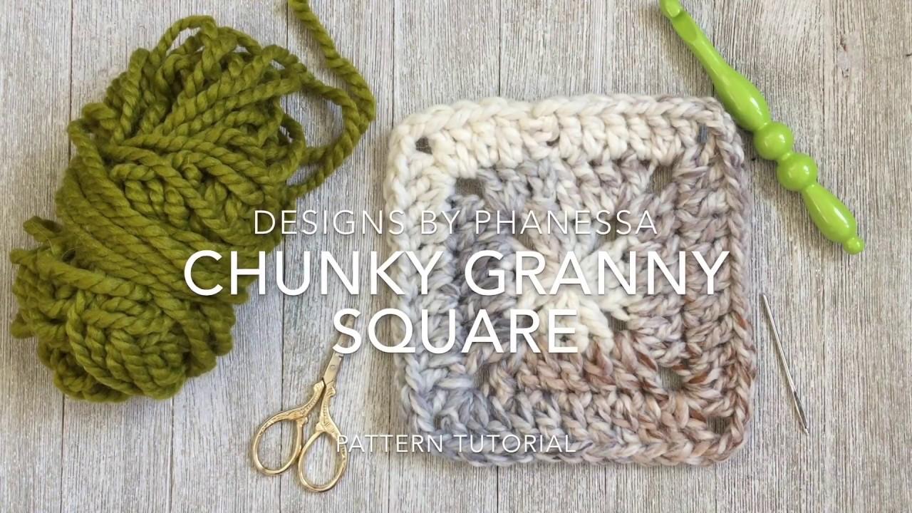 Crochet Chunky Granny Square Tutorial  YouTube