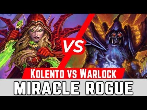 Hearthstone Miracle Rogue Kolento Deck Vs Warlock