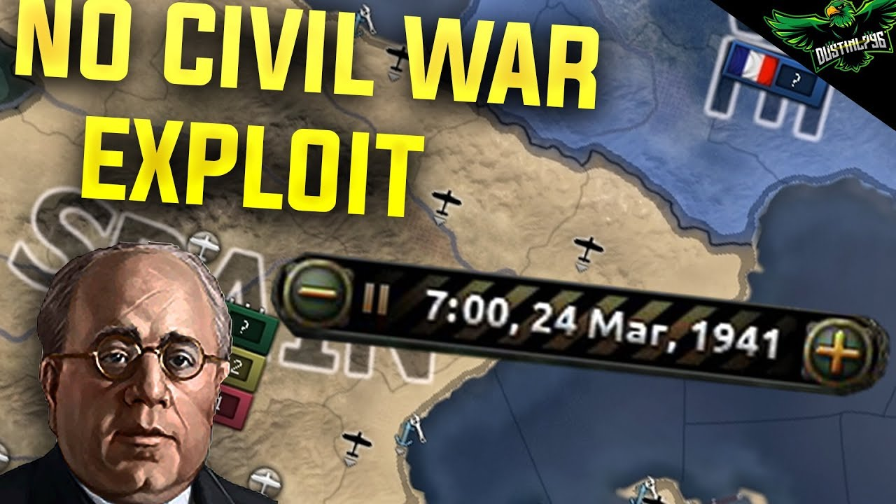 Hearts of Iron 4 How to Delay the Spanish civil war exploit (HOI4 MTG  Exploit Tutorial)