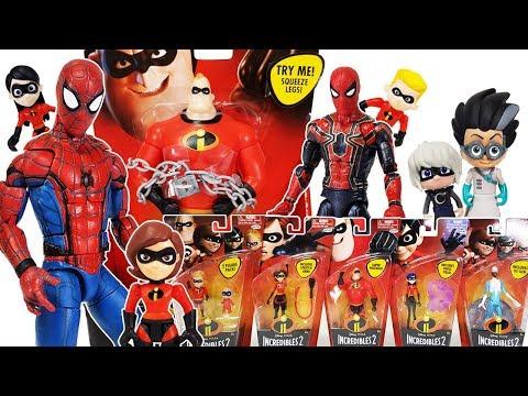 Incredibles 2 & Marvel Avengers Infinity War Spider Man, Hulk, Thanos, PJ Masks Romeo Toys Play