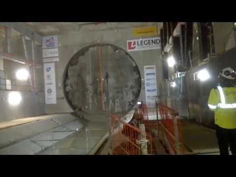 Arrivée du Tunnelier - Station Jules Ferry - Metro Rennes