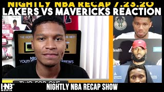 #TWOforONE 7.23.20: NBA Nightly Recap Live | Lakers vs Mavericks + Bucks vs Spurs