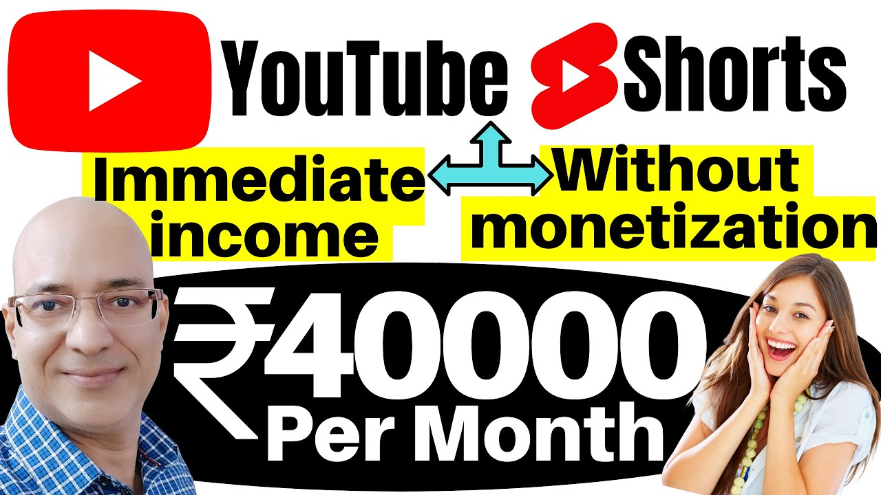 Without monetization-Income by YouTube Shorts   Sanjeev Kumar Jindal   Work from home   Freelance  