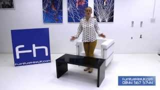 High Gloss Black Coffee Table Demo - Furniture Hire Uk