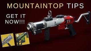 Destiny 2: FASTEST Way to Get The Mountaintop Pinnacle Reward!!   ACT NOW!!