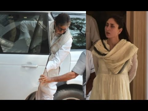 Amitabh Bachchan, Kareena Kapoor Khan And Others Get Emotional At Krishna Raj Kapoor's Last Rites
