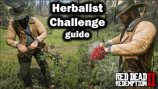 Herbalist Challenge Guide All plants location and Tips to complete them Rede Dead redemption 2