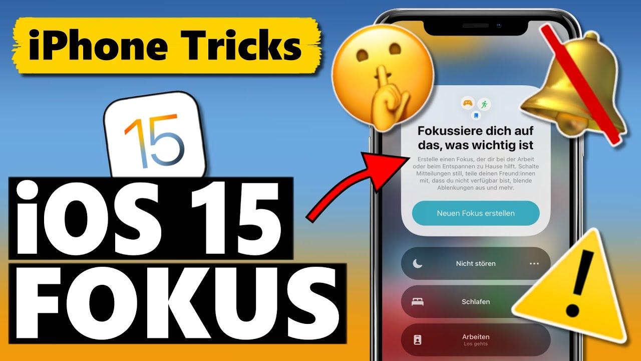 iOS 15 Fokus Modus - Alles was du wissen musst (Tipps & Automationen) 🤫🔕