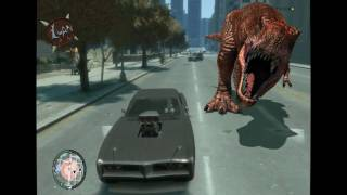 T-rex 3d animation and GTA IV