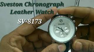 Sveston SV-8173 Chronograph Leather Watch