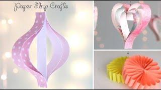 3 Easy Paper Strip Crafts