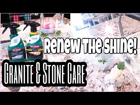 HOW TO CLEAN AND SEAL STONE COUNTERTOPS/EASY TO USE PRODUCTS