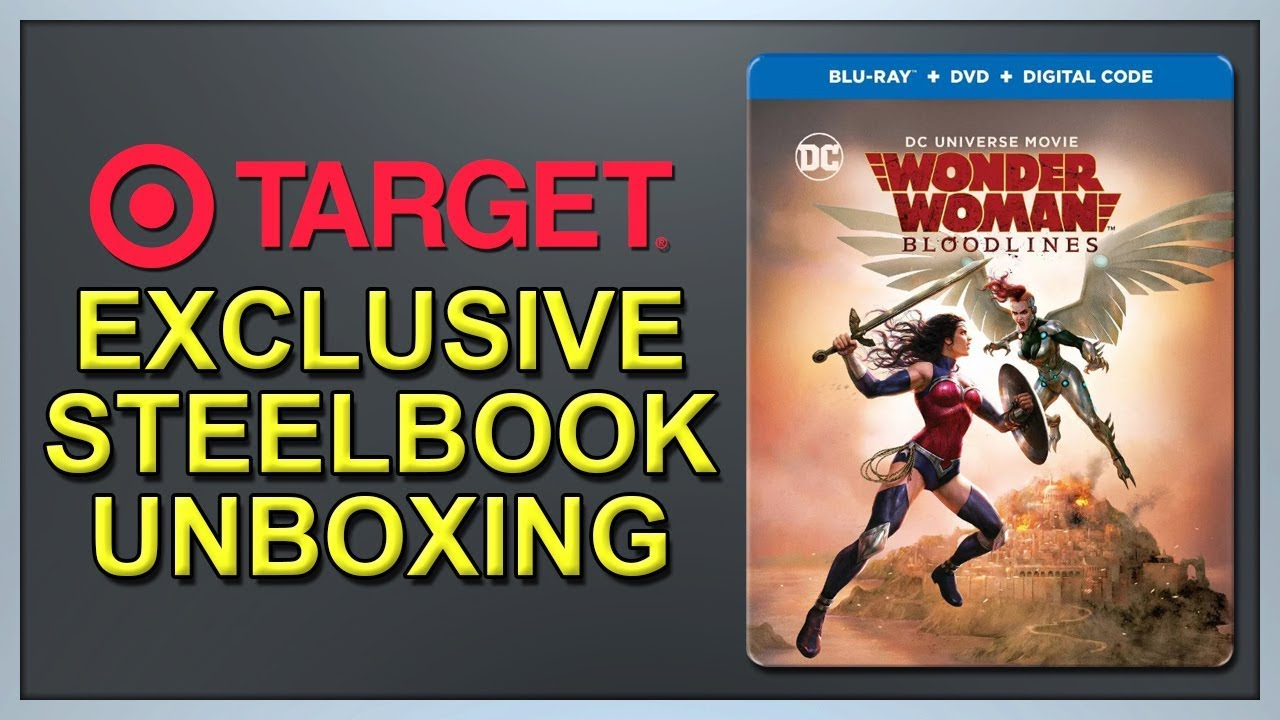 Wonder Woman Bloodlines Target Exclusive Blu Ray Steelbook Unboxing