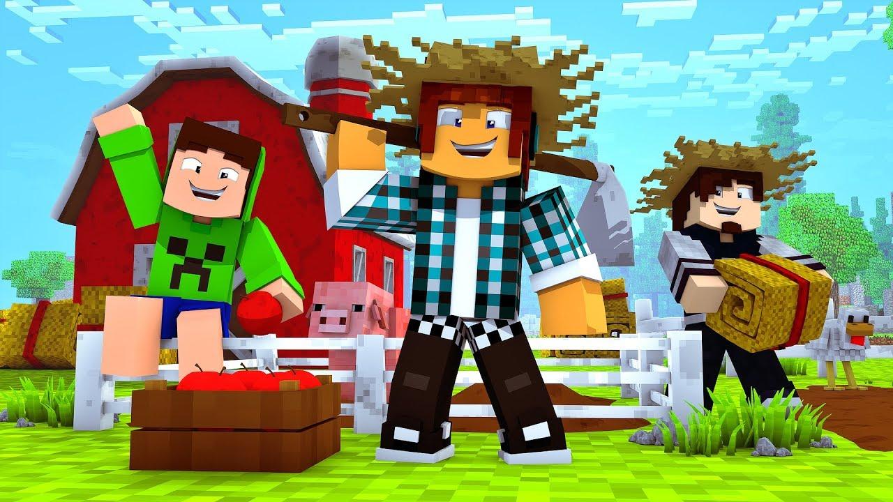 Letras Minegraft Fazendo A Nossa Festa: Minecraft : NOSSA FAZENDA ESTA CRESCENDO !