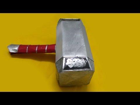 Paper Thor's Hammer tutorial - DIY (Henry Phạm)