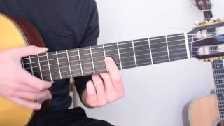 Spanish Romance Classical Guitar Lesson with Tab Lesson #1