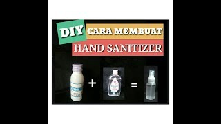 Membuat hand sanitizer ...