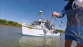Fishing crabbing and having fun down the hellhole creek Australia