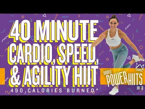 40 Minute Cardio Speed And Agility HIIT Workout 🔥Burn 490 Calories!* 🔥Sydney Cummings