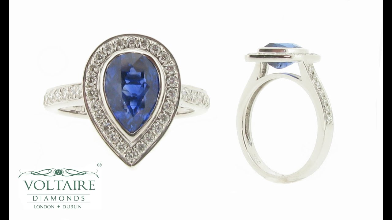 charm cushion centres engagement ring rings diamond cut sapphire created blue and product