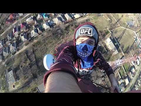 Зацеп на телевизионной башне в Кропоткине