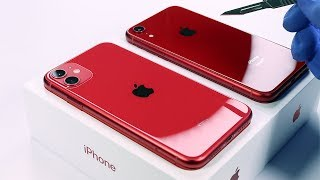 iPhone 11 vs iPhone XR (Red Editions) - Unboxing ASMR
