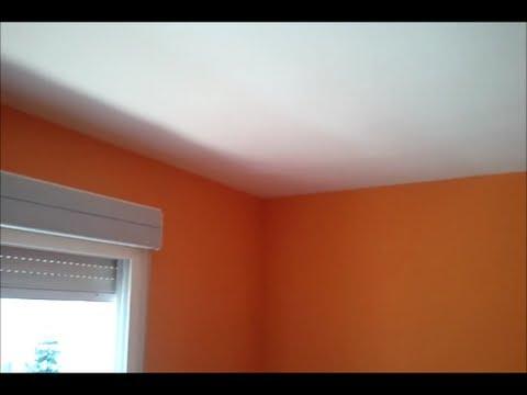 Como Quitar Gotele y Pintar en Plastico Color Naranja