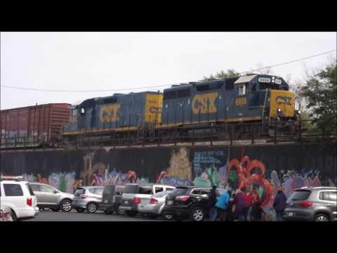 A Brief Railfanning Session in Dayton, Ohio.  11/11/2017.