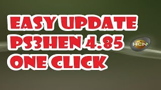 EASY UPDATE PS3HEN 4.85 ONE CLICK WITHOUT USB NEW