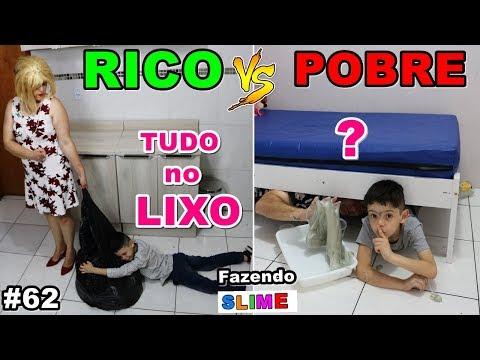 RICO VS POBRE FAZENDO AMOEBA / SLIME #62